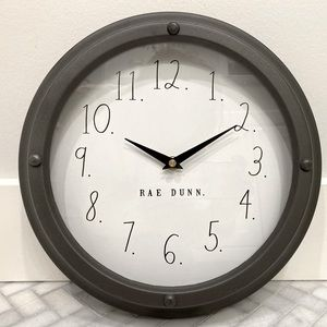 RAE DUNN WALL CLOCK